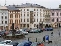 Olomoucké Dolní náměstí na podzim 2010.