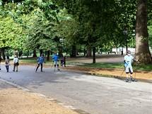 Londýn, sportovci v Hydeparku