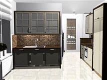 Propojení kuchyně s obývacím pokojem a rekonstrukce koupelny
