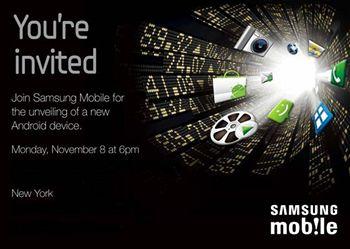 Pozvánka na chystané odhalení androidího zařízení z dílen Samsungu