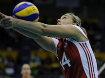 Česká volejbalistka Lucie Mühlsteinová.