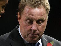 Harry Redknapp, trenér Tottenhamu, po prohře na Manchesteru United.