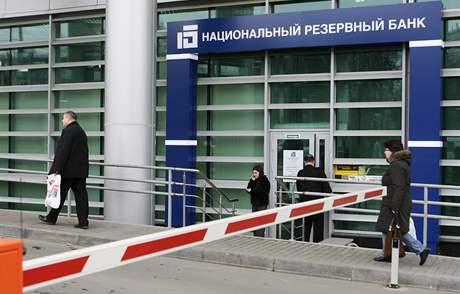 Moskevská pobočka Národní rezervní banky, která patří do obchodního impéria  Alexandra Lebeděva