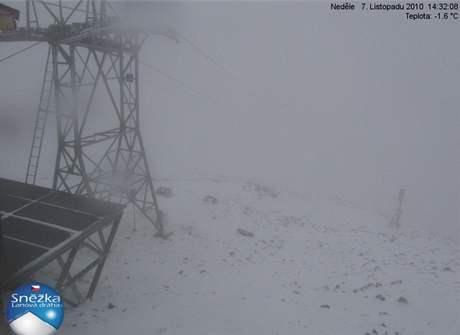 Počasí na Sněžce v neděli 7. 11. 2010 ve 14:32.