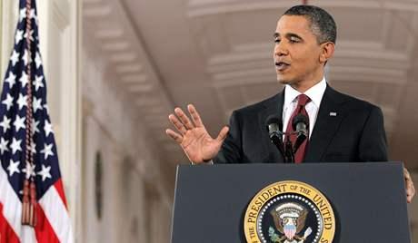 Americký prezident Barack Obama v Bílém domě (3. listopadu 2010)