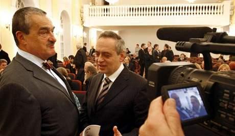 Někdejší politik a prominentní právník Ernest Valko a český ministr zahraničí Karel Schwarzenberg