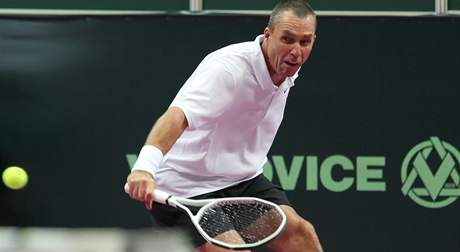 Ivan Lendl při exhibici Advantage Tennis v Ostravě