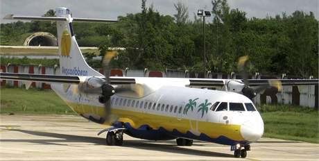 Letoun ATR-72 kubánské společnosti Aerocaribbean na archivním snímku