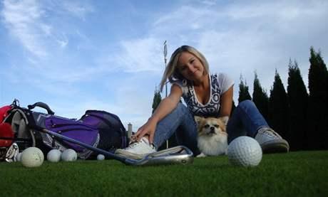 Finalistka soutěže Miss golf 2010 Veronika Kalinová.