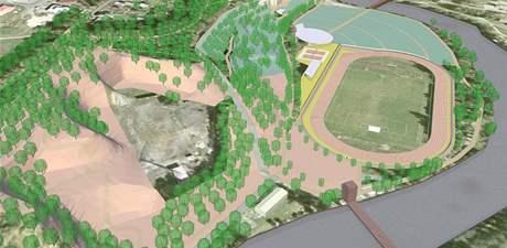 Na levém břehu Ohře se dočká rekonstrukce atletický stadion a vzniknou tady nové relaxační plochy.