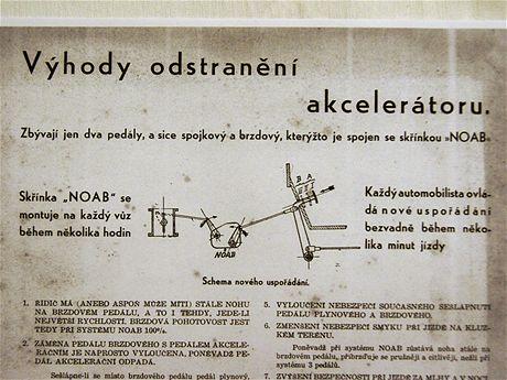 Detail reklamního letáku firmy NOAB