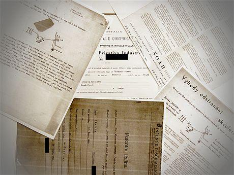 Dokumenty, které Dr. Ing. Jiří Novák zdědil po svém otci