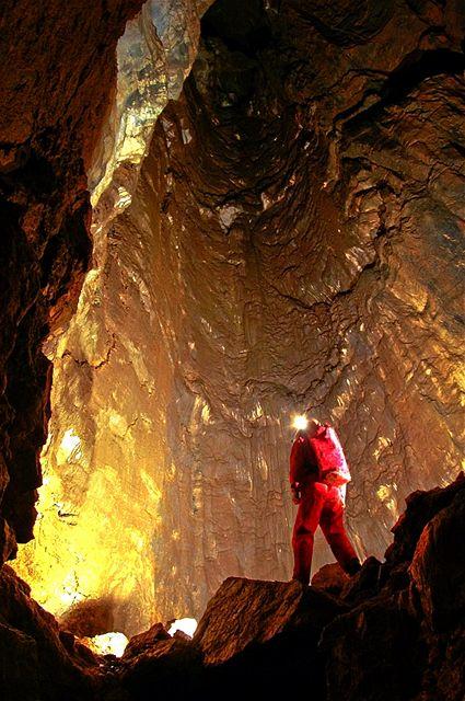 Hlavní propast v Hipmanových jeskyních