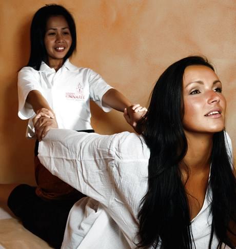 Andrea Vránová Kloboučková na thajské masáži