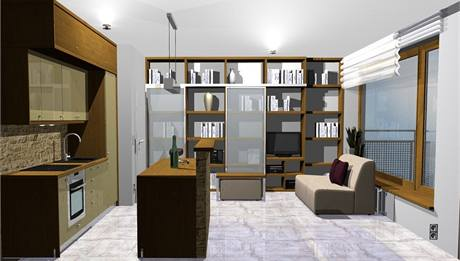 Obývací kuchyně v novostavbě. Dvě varianty řešení