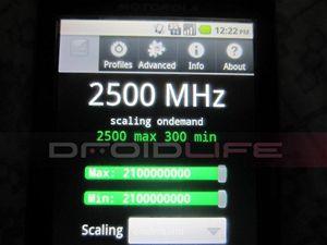 Motorola Droid 2 přetaktována na 2.5 GHz
