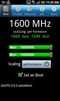 Samsung Galaxy S přetaktován na 1.6 GHz