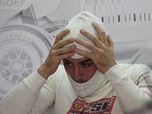 Fernando Alonso před tréninkem Velké ceny Brazílie.