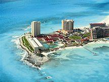 Mexické letovisko Cancún.