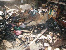 Při požáru bytu na brněnské Žižkově ulici se v úterý udusil starší muž.