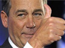 John Boehner slaví úspěch republikánů ve volbách do Kongresu (2. listopadu 2010)