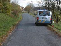Místo, kde cyklista v Květné srazil chodce