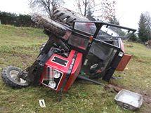 Nehoda traktoru ve Vrchlabí