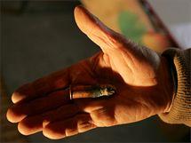 Nábojnice z pušky Wänzel z roku 1867 nalezená v olomoucké Korunní pevnůstce.