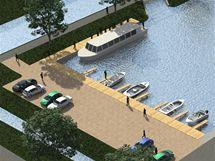 Vizualizace nového přístaviště pro desítky lodí, které vznikne v Babicích na Uherskohradišťsku.