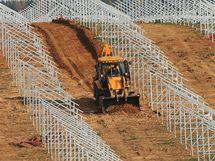 Ráječko - stavba solární elektrárny.