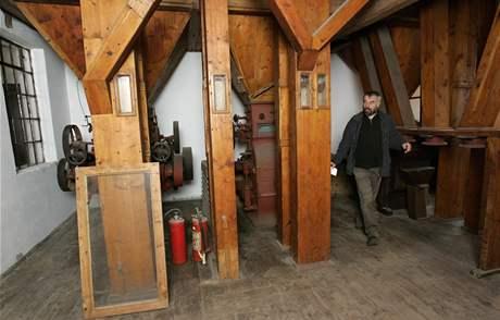 Původní vnitřní zařízení mlýna v Mikulůvce