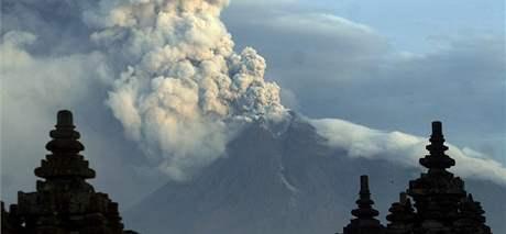 Sopka Merapi (10. listopadu 2010)