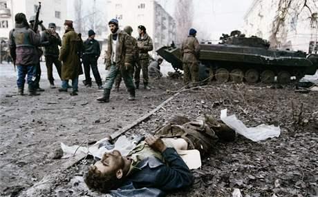 První čečenská válka. Snímek z Grozného