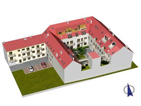 Rezidence Jistebnická - Pohled JZ