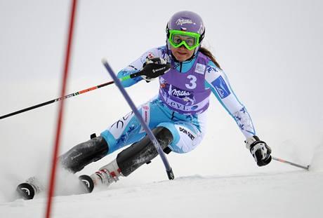 SEDMÉ MÍSTO. Česká lyžařka Šárka Záhrobská dojela v závodě Světového poháru ve finském Levi sedmá.