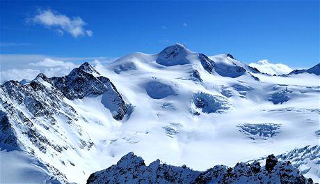 Pitztaler Gletscher, pohled z Hinterer Brunnenkogel na Wildspitze (3715 m)