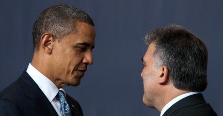 Americký prezident Barack Obama a jeho turecký protějšek Abdullah Gül