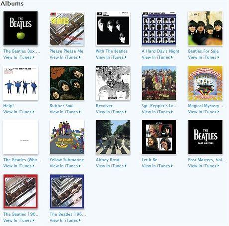 Nabídka The Beatles v iTunes Store