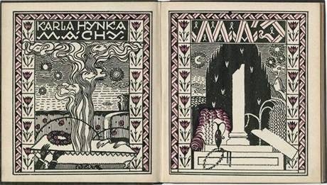Karel Hynek Mácha. Máj, Ilustrace Jan Konůpek, Praha : R. Brož, [1910] (z výstavy Listování)