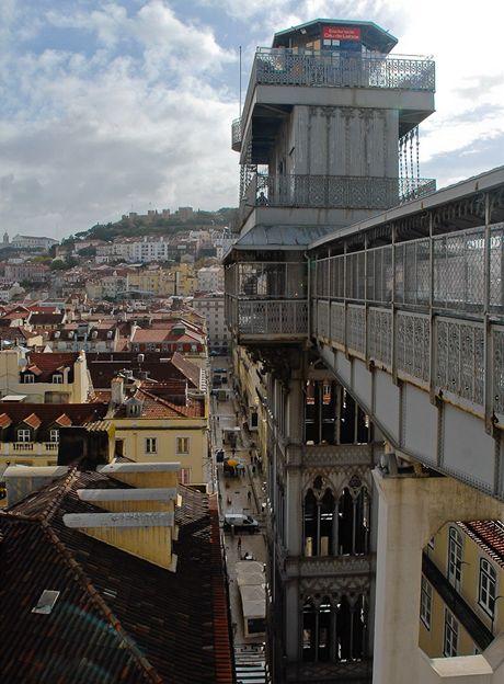 Lisabon. Výtah Elevador de Santa Justa