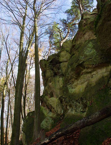 Severní stěna Zbořených zámků
