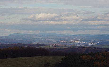 Radhošť a Zlín zHolého kopce