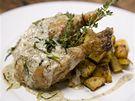 Kuře na estragonu s provensálským bramborem