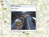 Odstraňování následků tragické nehody na 80. kilometru dálnice D1. (19.11.2010)