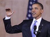 Barack Obama při projevu na University of Indonesia (10. listopadu 2010)