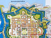 Mapa pevnosti Terezín.