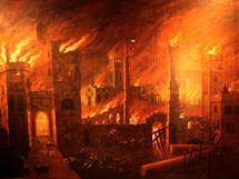Londýnské muzeum. Velký požár Londýna