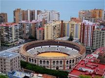 Málaga, aréna na býčí zápasy.