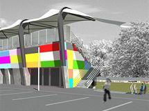 Vizualizace nového sportovního areálu Bavlna