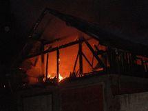 Požár domu v Trutnově.